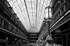 Cleveland Arcade (mswan777) Tags: iron light skylight railing victorian history shopping mall arcade cleveland ohio city indoor up nikon d5100 nikkor 1855mm glass