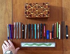 My pens & pencils 106-365 (10) (♔ Georgie R) Tags: pens pencils box ruler