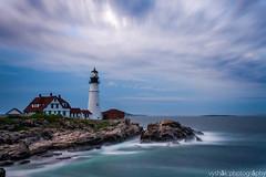 Head light (vyshaks) Tags: travel portland maine lighthouse longexposure beaches bluesky blue ocean canon7d canon