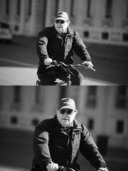 [La Mia Citt][Pedala] (Urca) Tags: milano italia 2016 bicicletta pedalare ciclista ritrattostradale portrait dittico bike bicycle biancoenero blackandwhite bn bw 872152