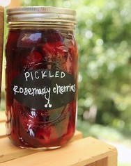 farmstand cherries (Karol Franks) Tags: summer party farmstand fruit canned cherries pickled masonjar sanfernandovalley