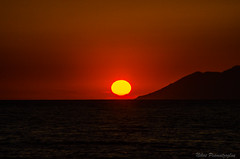 Another day is gone (NikosPesma) Tags: sun sunset sky red sea aegean lesvos greece asiaminor turkey landscape                      sykamnia sykaminea