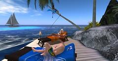 20160628 - PatrickUnicorn_15_001 (Patrick Unicorn) Tags: boy lady deckchair sea shore beach sunbath island ocean