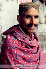 Old man and sindhi ajrak (Fortygraphy) Tags: sindhi potrait ajrak oldman pakistan mustache simpleoldman pakistani canon600d portraitphotography