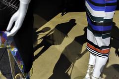 . (Ale C Foto) Tags: manichini manichino vetrina negozio abbigliamento gonna woman eos italy italia citt ombre postproduzione lombardia photoshop alecfoto alessandrocas sole donna due righe colori canon vetro milano milan 1740 5d moda