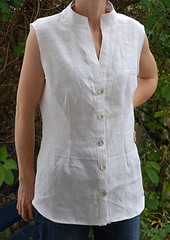 Leinen_stehkragen2 (Two_tango) Tags: sewing crafting nhen blouse shirt rmellos bluse leinen linen garments kleidung
