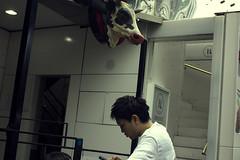 breen (edwardpalmquist) Tags: harajuku shibuya tokyo japan travel city street urban cow animal people outdoors man boy