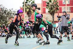 (pezhera) Tags: toxic lima roller derby peru girls skates skaters skating chicks bowls warriors punk metal hard core canon photography sports deporte