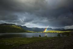Sunlight and rain combined (Simon Kveen) Tags: rainbow landscape filefjell e16