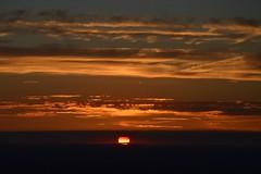 DSC_1750 (JustineChrl) Tags: sunset coucher de soleil auvergne france puydedome volcan montagne nature landscape paysage colors orange red blue sky clouds sun parapente parasailing nikon nikond3200 out