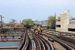 Ravenswood Connector Work Weekend #3 (cta web) Tags: railroad chicago train workers construction cta publictransit transport tracks railway transit publictransport oldtown lincolnpark brownline thirdrail rapidtransit trackwork purplelineexpress tieclips nearnorthside ctabrownline ctapurpleline trackties ravenswoodconnector