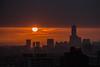 sunset in Kaohsiung 夕陽 (Yi-Liang Lai) Tags: sunset red sky sun color colors silhouette canon dusk taiwan kaohsiung 夕陽 台灣 高雄 夕照 85大樓 八五大樓 canon6d 夕彩 胖白 中鋼大樓