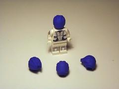 Asari minifig heads! :D (GhosthandsGH) Tags: lego head alien minifig custom me1 me2 me3 asari liara masseffect 3dprinted shapeways unexpectedtoy