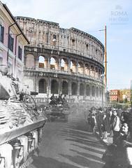 5 giugno 1944 - http://bit.ly/1IpJjXh (Roma Ieri Oggi) Tags: old rome roma foto layers merge colosseo rephotography vecchie nuove sovrapposizione viasangiovanniinlaterano romaierioggi