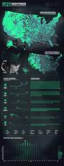 UFO Sightings Since 1925 (www.IDVsolutions.com) Tags: geek map ufo scifi data