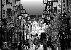 Downtown street (karakutaia) Tags: sun tree love nature japan paper temple tokyo heart afotando flickraward flickrglobal allbeautifulshotsandmanymoreilovenature flowerstampblackandwhite transeguzkilorestreetarturbanagreatshotthisisexcellentcontestmovementricohgxrserendipitygroupbluenatureicapturecardjapanesepapercardflickraward5jtrasognoerealtabstractelementsorganizersimplysuperb