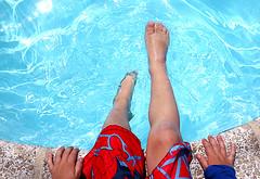 {Julian 365} Day 344 - poolside (citygirlny10305) Tags: boy summer portrait water pool toddler child legs documentary naturallight barefeet poolside hdr sunnyday splashingwater 365project canon5dmarkii kickingfeet