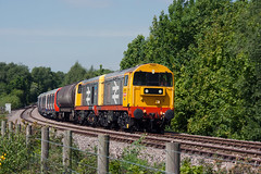 20132+201I8 Hicks Lodge 05\06\15 (Steveo46240) Tags: underground 20 derby 20118 railfreight olddalby 20132 hickslodge 7x23