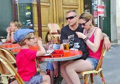 2015-06-07   Paris - Bistrot les Petits Carreaux - 17 Rue des Petits Carreaux (P.K. - Paris) Tags: street people paris café june french juin terrace candid terrasse sidewalk 2015