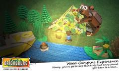 Wood Camping Experience (EVWEB) Tags: bear wood camping light summer dark fun lego fear humor tent experience minifigures