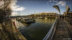 Bristol Harbourside scenes (zolaczakl ( 2 million views, thanks everyone)) Tags: bristol 2016 harbourside photographybyjeremyfennell nikond7100 uk england southwest perosbridge bridges fisheye samyang8mmf35fisheyemanualfocuslens february