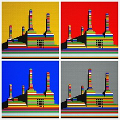 LEGO  Battersea Power Station (daveh_design) Tags: instagramapp square squareformat iphoneography uploaded:by=instagram lego legomosaic legodesign legobrickclub legoarchitecture london londonarchitecture afol wallart battersea gilesgilbertscott
