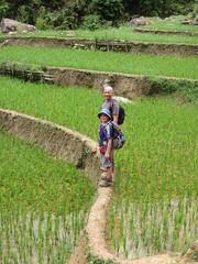 Hiking along ride paddies in Sapa (vbolinius) Tags: 2016 cooperbolinius hiking ricefields sapa travel vernbolinius vietnam