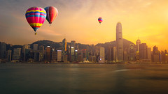 IMG_0730-Edit (Krunja) Tags: china city travel blue sunset sea vacation sky urban cloud seascape hot building water skyline architecture modern skyscraper landscape asian hongkong harbor fly office colorful asia downtown day cityscape view harbour district background air balloon central chinese culture peak scene victoria hong kong business transportation tall concept financial cloudscape finance