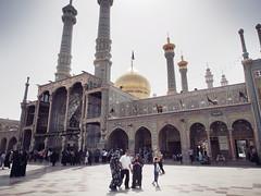 Qom - Iran (Ibontxo) Tags: travel traveling middleeast shrine temple people sacred place qom iran olympus em5 zuiko 1250