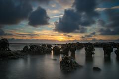 breakwater (Ha-Jue) Tags: norderney breakwater buhne nordsee sunset sonnenuntergang sigma24105 sonya99