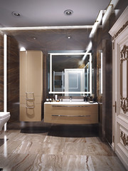 15 (Uberkoly) Tags: render modernrestroom 3drender visualisation coronarender interiordesign travertine