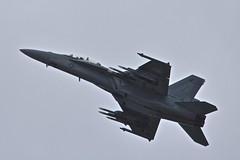 Flight 1, Boeing F/A-18F Super Hornet, Farnborough Airshow, 2016 (Peter Cook UK) Tags: show air super hampshire airshow f hornet boeing f18 18 farnborough 2016 fa18f