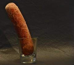 Sausage in a Shot Glass (ricko) Tags: sausage frozen shotglass stilllife werehere