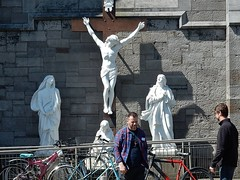 God on the Street (mikecogh) Tags: dublin public god jesus culture statues christianity catholicism crucifixion