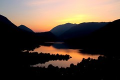 Fire lake... (modestino68) Tags: sunset lake mountains montagne lago tramonto riflessi reflects bobseger