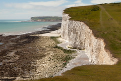 Seven Sisters walk | July 2016-33 (Paul Dykes) Tags: southdowns southdownsway southcoast coast cliffs sea shore coastal englishchannel sussex england uk seaside sun sunnyday chalk downs hills countryside