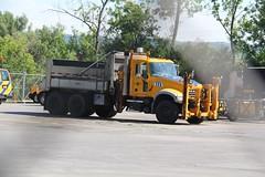 NYSDOT Harbor Lock (1) (RyanP77) Tags: nysdot newyorkstatedepartmentoftransportation international mack granite plow snowplow snow larue blower dump truck dot new york viking cives henderson trucks trucking removal equipment