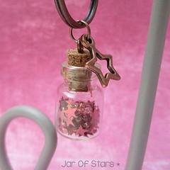 IMG_9637 (kayleigh richardson) Tags: star jar keyring copper holographic pink sequins seedbeads beads tibetan charm