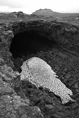 Lava cave (Alexandre Dulaunoy) Tags: iceland sooc islande lavacave volcaniccaves cave blackwhite bw noiretblanc noirblanc pahoehoe volcano nature geology snow