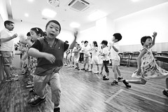 The Mouse Bride coming together 1/6 (johey24) Tags: china blackandwhite bw kids children shanghai stage rehearsals stageperformance themousebride