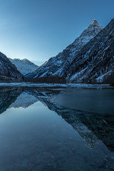 Tte de Lauranoure Reflections (z000p) Tags:    bts rt black white red green yellow blue color colors colour colours android art news light old new me travel trip photo fun geotagged canon 6d ef24105mm hoya filter france tte de lauranoure reflections europe winter alps lake mountain snow ice cold