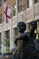 Beyond Tomorrow (JB_1984) Tags: beyondtomorrow sculpture bronze art artwork artinstallation statue karinjonzen guildhall flag corporationoflondon city squaremile cityoflondon london england uk unitedkingdom