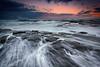 Evening Rush (renatonovi1) Tags: sunset sea ocean wave water rock swell rush evening seascape landscape turimetta sydney nsw australia moonmoonrise