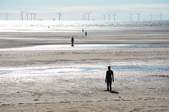 Looking out to sea (Peter Owen) Tags: crosby blundellsands beach antony gormley anotherplace ironman ironmen wind turbines