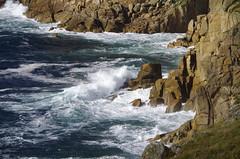 Driving in (Sundornvic) Tags: cornwall kernow cliffs rock stone granite sea water waves foam spray weathering landsend