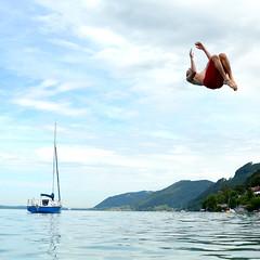 backflip (michael pollak) Tags: attersee springen me moi backflip rckwrts fun wasser water see lake