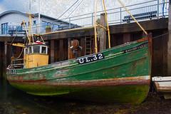 Harvest Lily (votsek) Tags: 2016 scotland ullapool harbor boat slider fishingboat lowtide dock