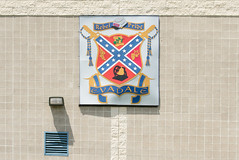 Nurturing a Heritage of Hate? Evadale ISD 1608111126 (Patrick Feller) Tags: heritage hate evadale rebels high school isd independent district confederate flag insignia coat arms states america east texas csa civil war jim crow racist jasper county confederacy dylann roof kkk ku klux klan battle slavery segregation heritageofhate heritagenothate board superintendent sports champions baseball basketball racism graduation state 2000 2001 westrock company corporation paper mill employer employment tx segregated black africanamerican rights emblem crest kepi cap hat crossed sword saber de facto demographics
