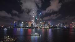 Timelapse of Lujiazui Shanghai (HIKARU Pan) Tags: timelapse timelapsevideo video shanghai chinese asia china landscape landmark lujiazui huangpuriver jinmaotower shanghaiworldfinancialcenterswfc orientalpearltvtower shanghaitower night nightscape cloudy cloud