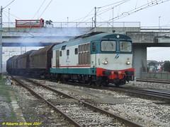 D443 2015 Coils Ravenna (Di Trani Roberto) Tags: d443 2016 doppia simmetrica con 345 1046 un trasporto coils ravenna mantova partenza dallo scalo d345 443 trenitalia cargo